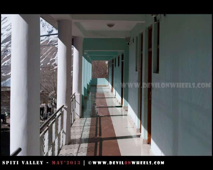 Corridor at Snow Lion Kaza