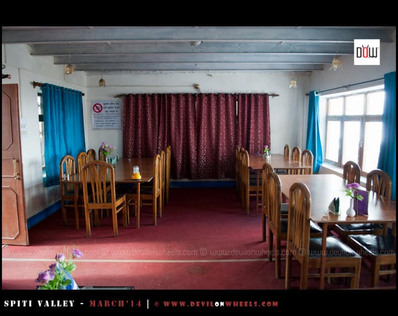 Dining Room of Snow Lion Kaza