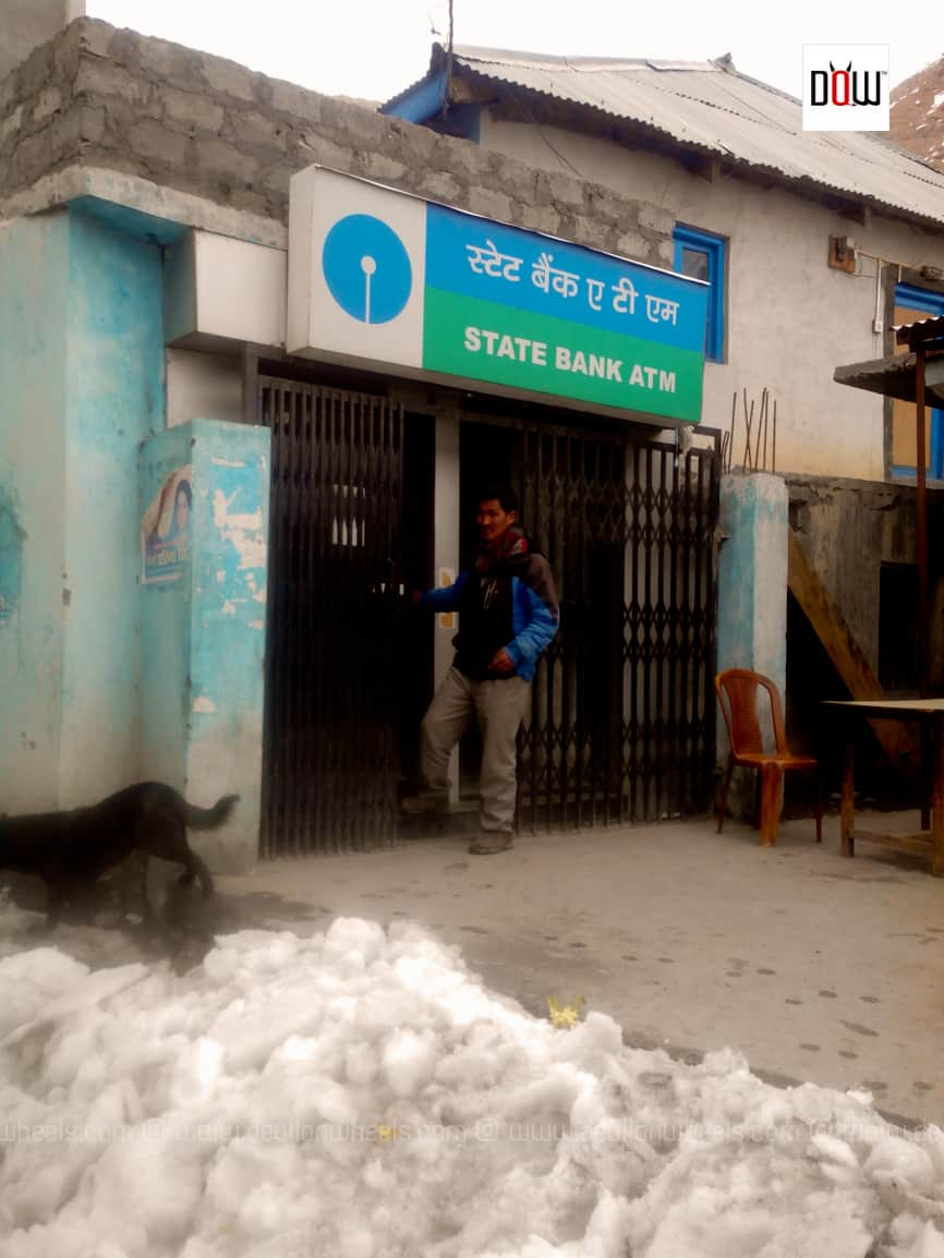 State Bank ATM at Kaza, Spiti Valley