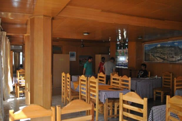 Restaurant at Hotel Sten Del, Sangam Bar and Restaurant at Diskit town, Nubra Valley, Ladakh