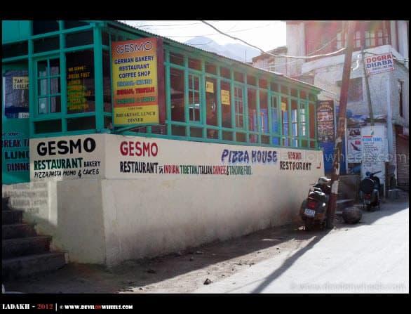 Gesmo Restaurant in Leh - Ladakh