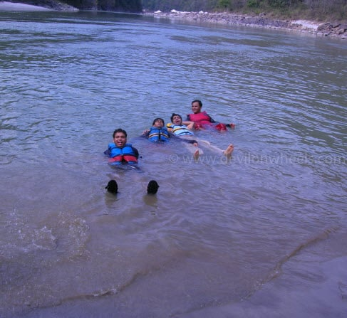 Bathing with Friends in Ganges...