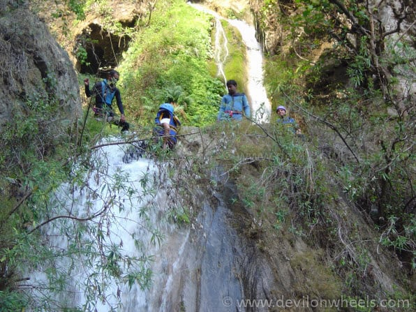 Canyoning at Shivpuri / Rishikesh... Ain't easy and you fall too...