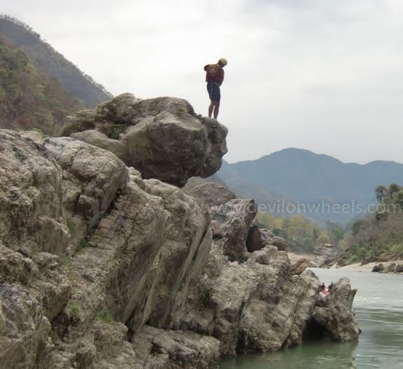 Cliff Jumping at Rishikesh