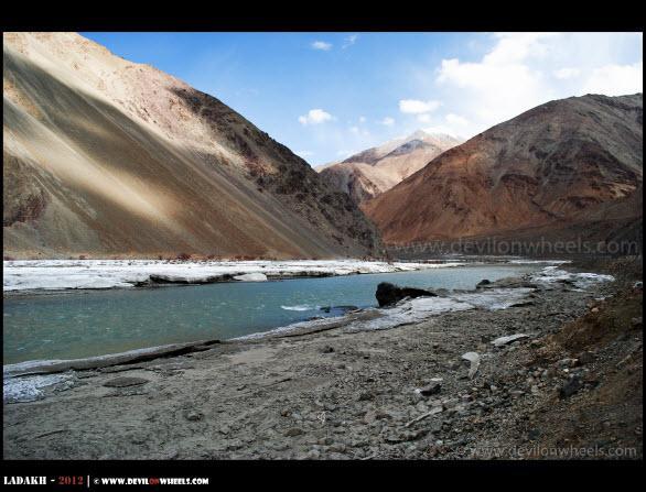 Frozen Indus River near Chumathang