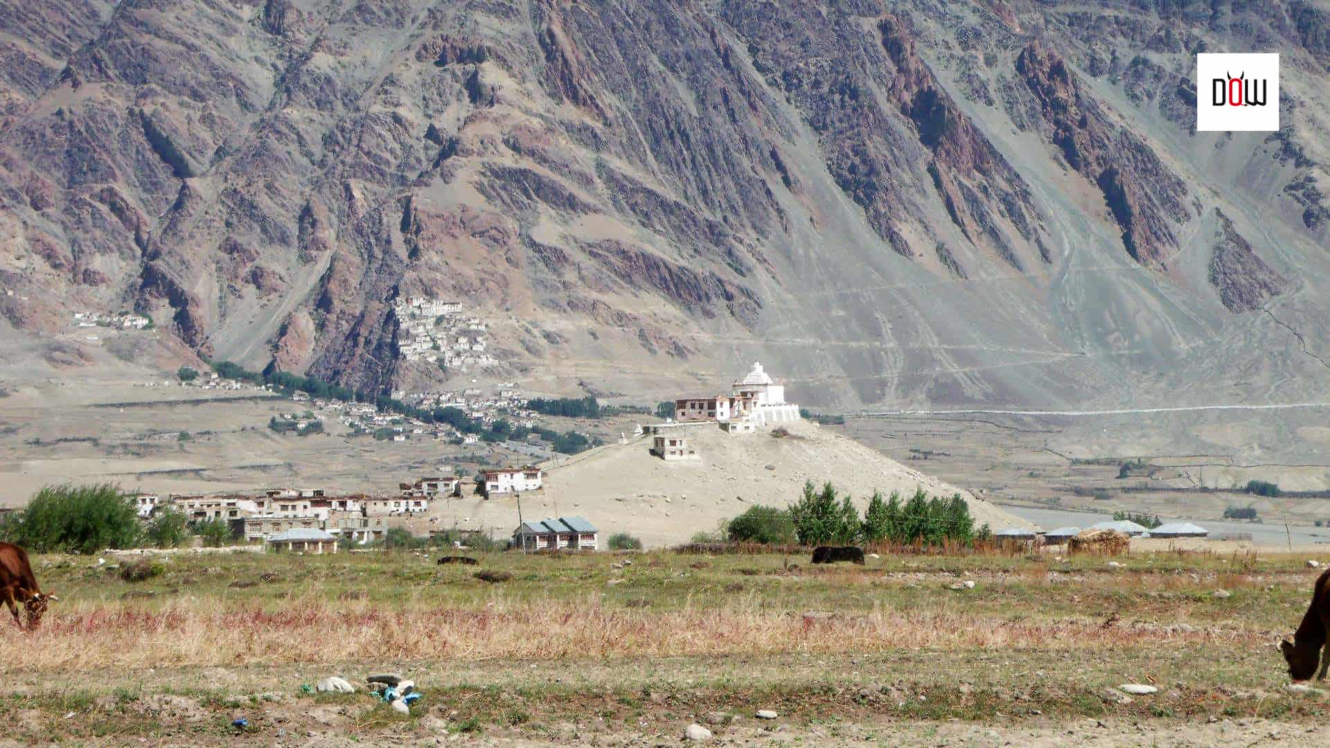 Karsha Monastery near Padum, a distant view
