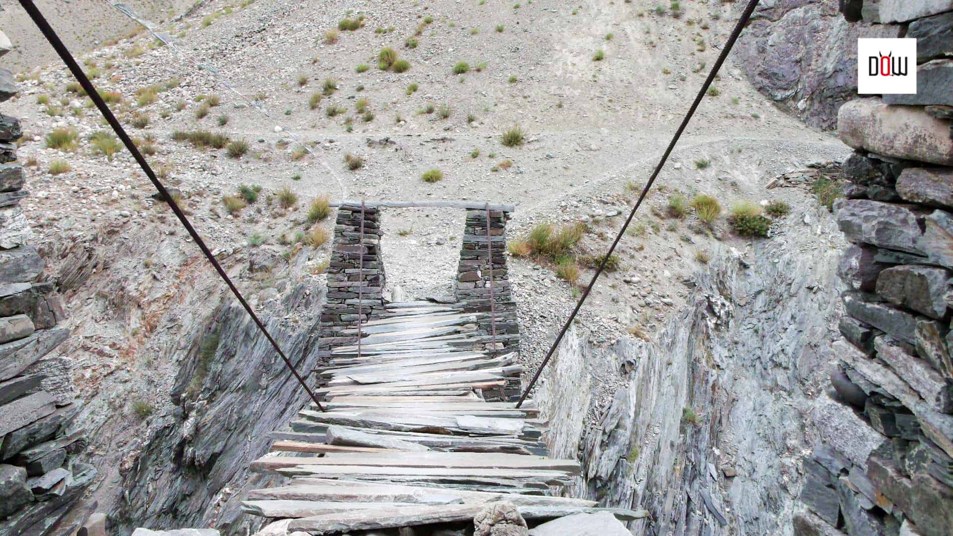 Those many scary hanging bridges you cross on the trek to Phugtal monastery