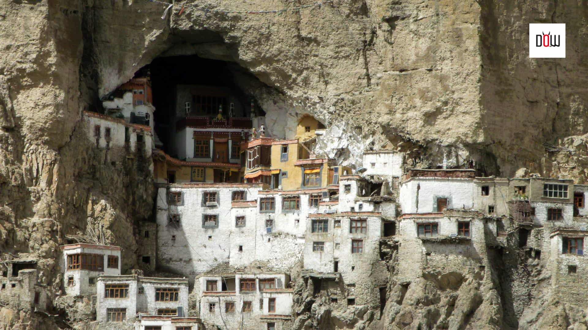 Phugtal Monastery, a close-up view...