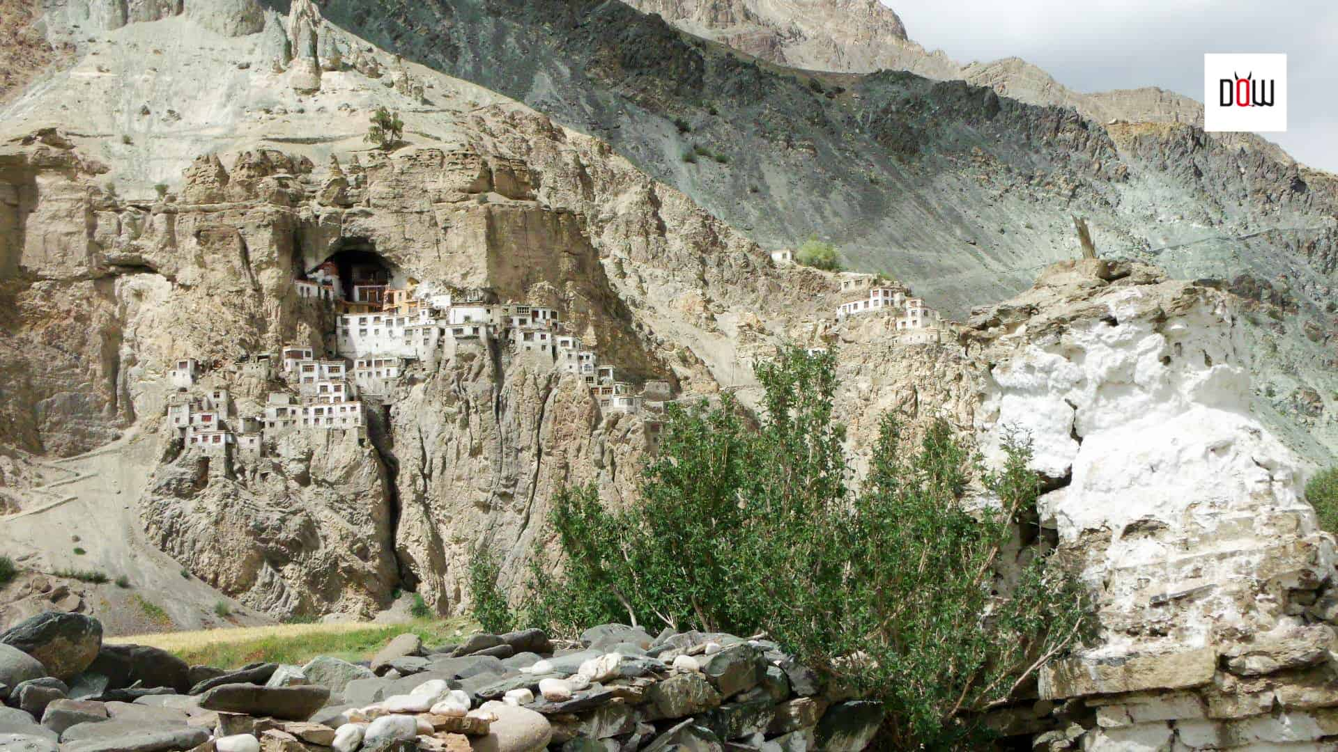 The Chortens outside the monastery