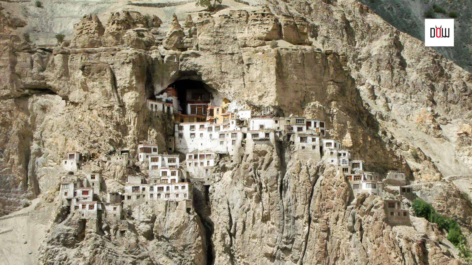 Phugtal Monastery, a close up view