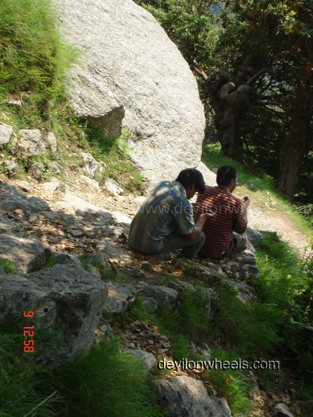 Rest time at Triund Trek