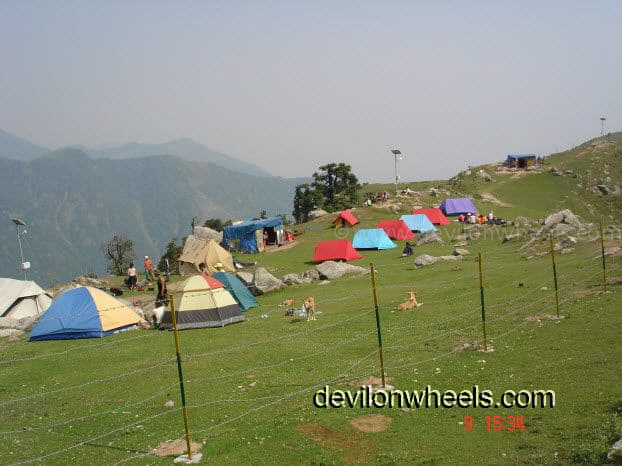 Camps at Beautiful Triund