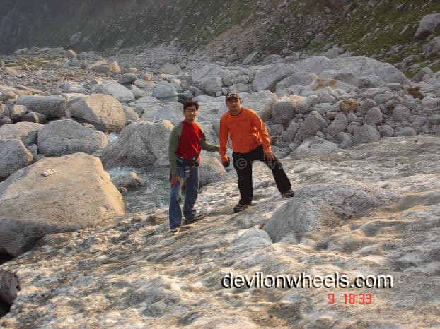 Reached the base of Laka Glacier from Triund