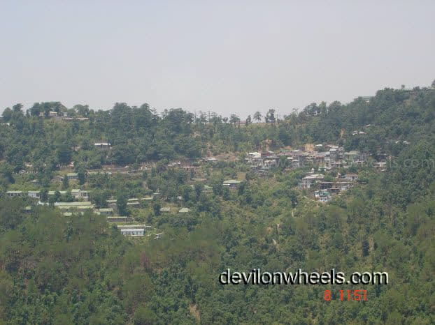 View of some towns through the Mcleod Ganj woods trail