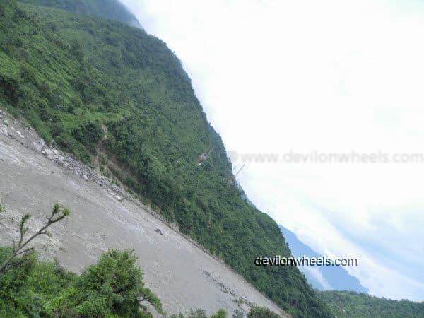 Views of Beas River Mandi on the way to Manali