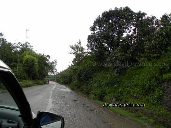 Rain in Hills on the way to Manali