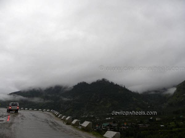 Drenched Roads Towards Rohtang Pass from Manali after rain