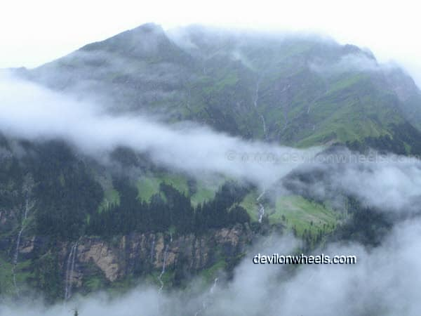 Cloud Cover on the way towards Rohtang Pass from Manali after rain