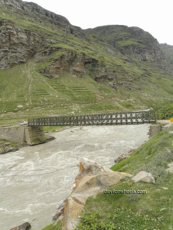 Khoksar Bridge over Chandra River
