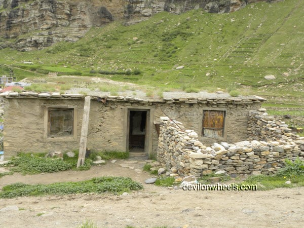 House at Khoksar on Manali-Leh Highway
