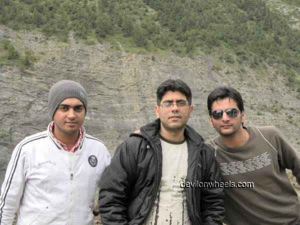 Trio at Manali-Leh Highway