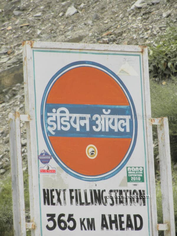 Only Petrol Pump on Manali – Leh Highway