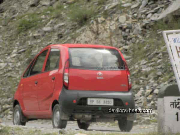 Nano at Tandi on Manali – Leh Highway