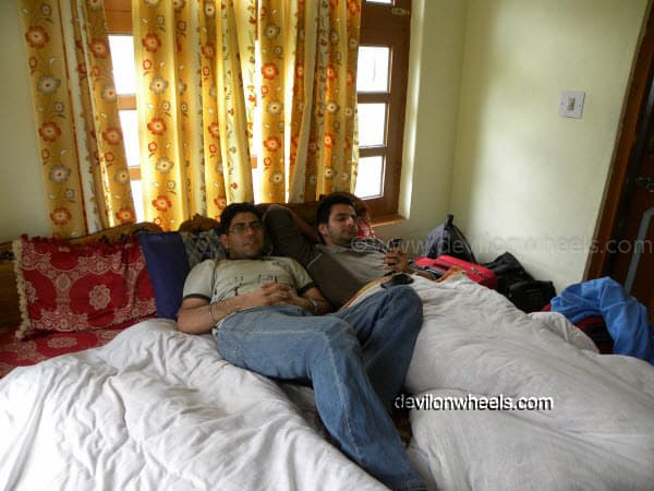 Lazing in the Room at Keylong on Manali-Leh Highway