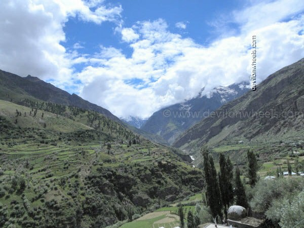 View from the Room at Keylong on Manali-Leh Highway