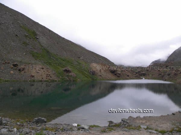 Deepak Tal besides Manali - Leh National Highway