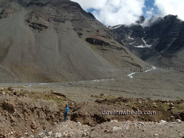 Dheeraj Sharma at Manali - Leh National Highway