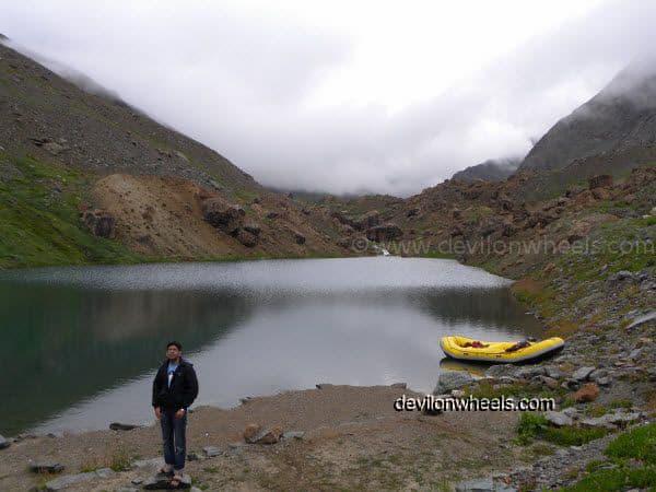 Deepak Tal besides Manali - Leh National Highway