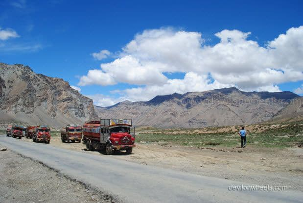 Views on Manali - Leh Highway near Sarchu