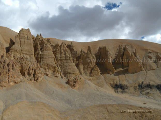 Views on Manali - Leh Highway near Pang