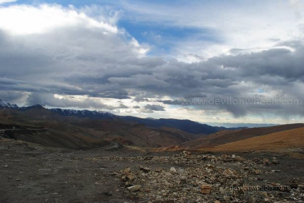 Views at Tangang La on Manali - Leh Highway