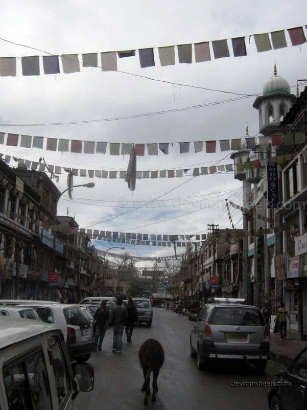 Main Bazaar or Mani Market in Leh - Ladakh
