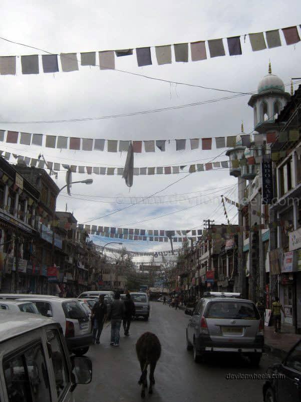 Main Bazaar or Mani Market in Leh - Ladakh