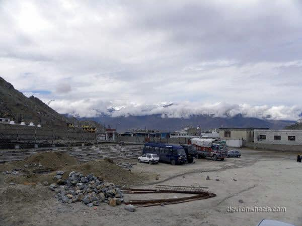 View of big ground just before DC Office in Leh - Ladakh