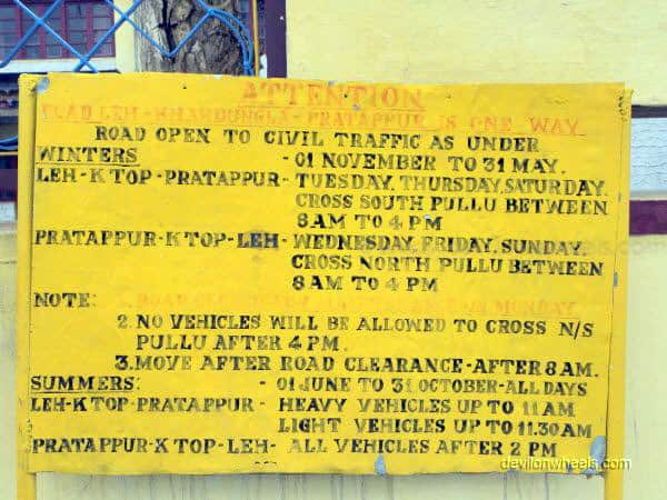 Information at DC Office in Leh - Ladakh