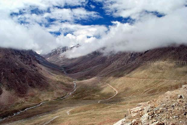 View of Khardung La top in Leh - Ladakh