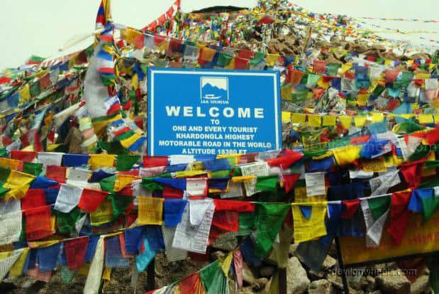 Khardung La top in Leh - Ladakh