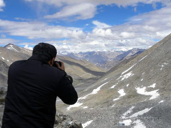View from Khardung La top in Leh - Ladakh