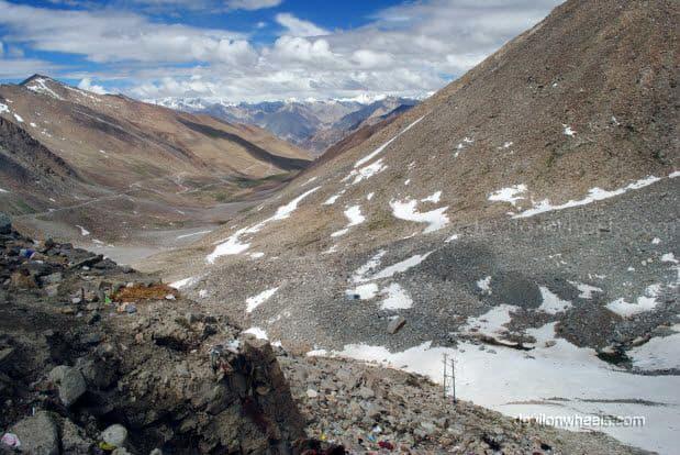 Views from Khardung La top in Leh - Ladakh