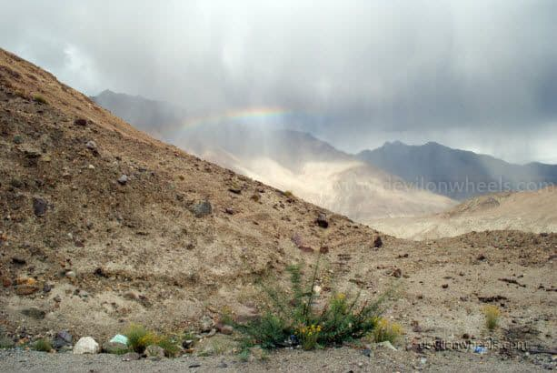 Views on the road to Nubra Valley from Khardung La in Leh - Ladakh