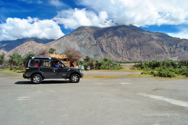 Our ride in Sand dunes of Hunder, Nubra Valley in Leh - Ladakh