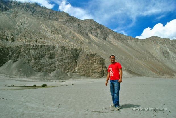 Dheeraj Sharma at Sand dunes of Hunder, Nubra Valley in Leh - Ladakh