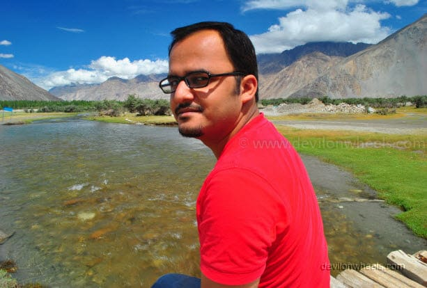 Dheeraj Sharma in Hunder, Nubra Valley in Leh - Ladakh