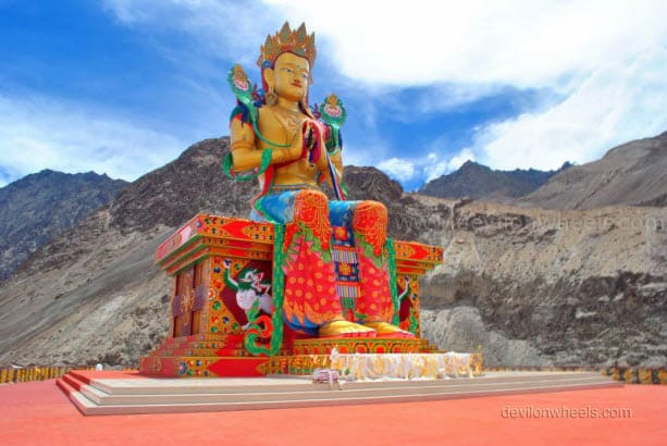 Lord Buddha Statue in Diskit monastery, Nubra Valley of Leh - Ladakh