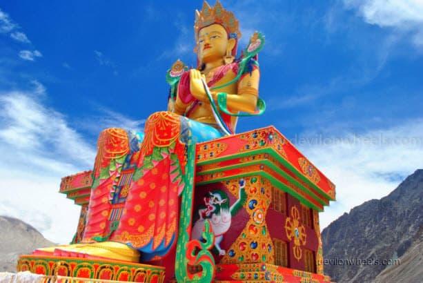 Lord Buddha Statue in Diskit monastery, Nubra Valley of Leh - Ladakh