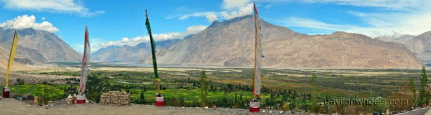 View from Diskit monastery, Nubra Valley of Leh - Ladakh